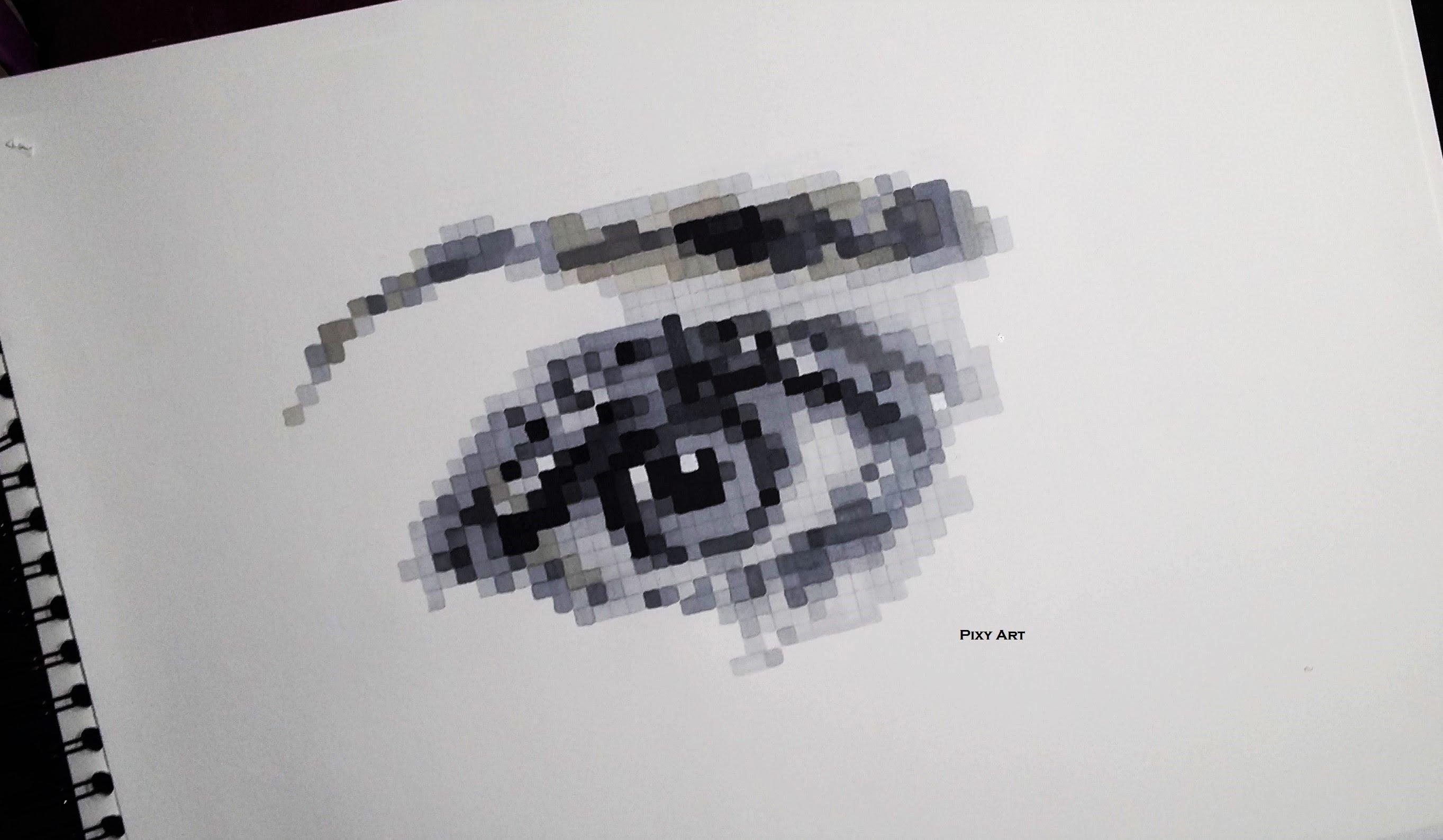 Drawn pixel art pixel eye Pixel Pixel Art) YouTube Drawing