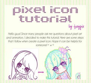Drawn pixel art pixel icon 168 by foxypix TUTORIAL pixelart