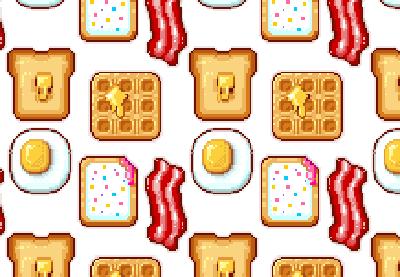 Drawn pixel art pixel icon Day breakfast off art Start