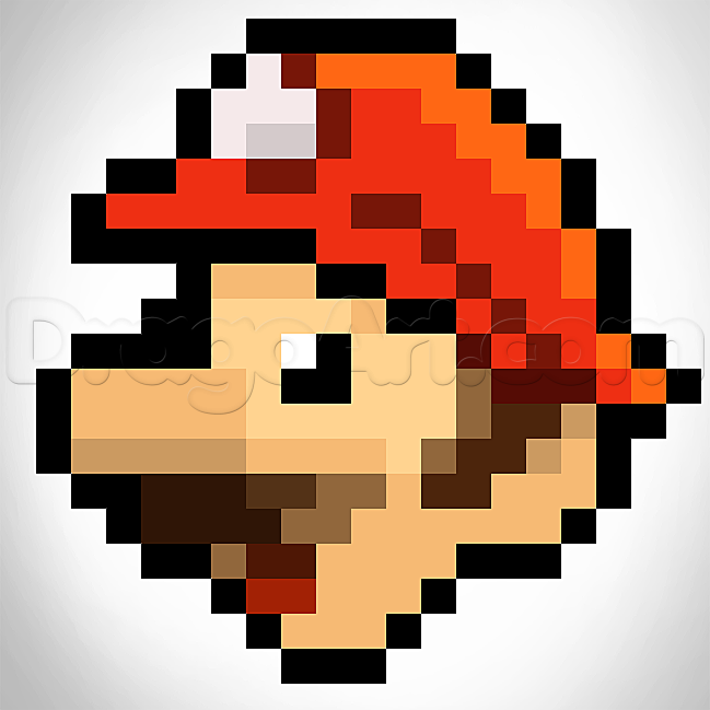 Drawn pixel art pixelated  Mario Design Pixelated How