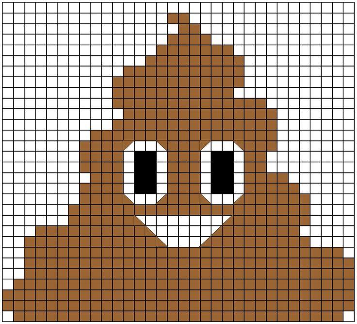 Drawn pixel art poop Mom's I images Emoji Emoji