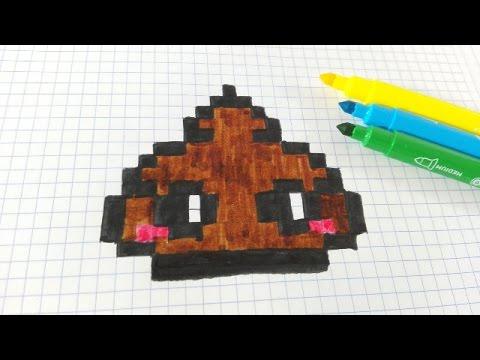 Drawn pixel art poop Poop Poop Pixel dibujar Kawaii