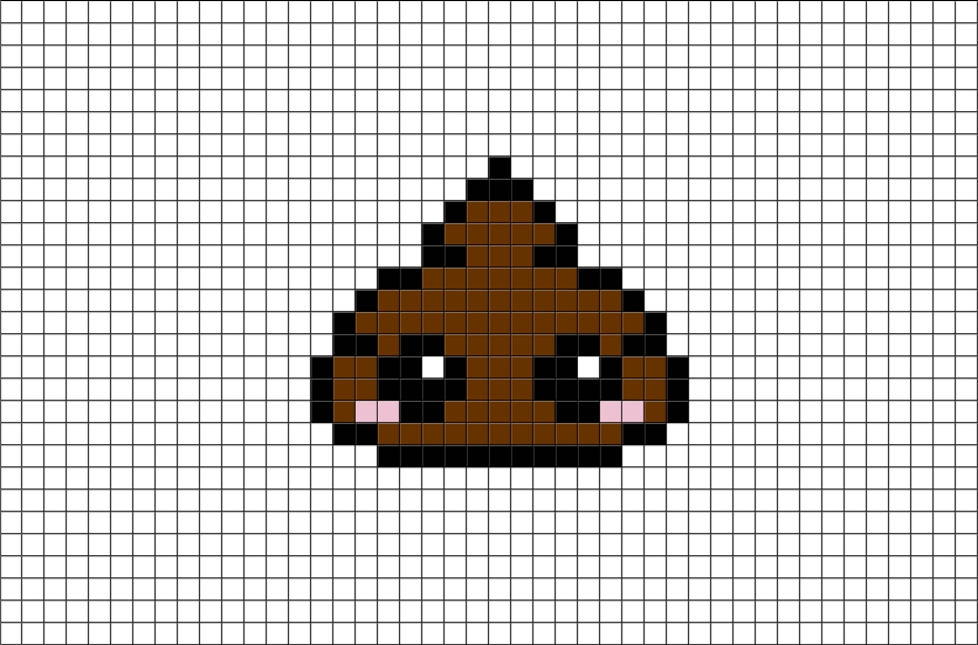 Drawn pixel art poop Com #Poop  #pixelart from
