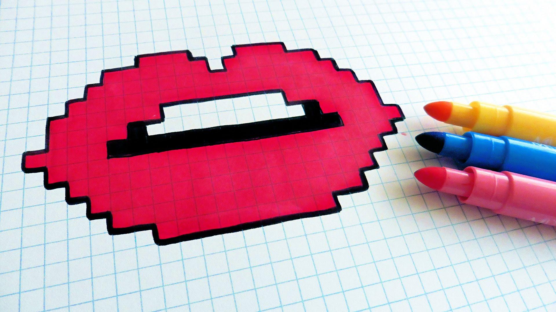 Drawn pixel art poop YouTube Lips Handmade Lips Pixel
