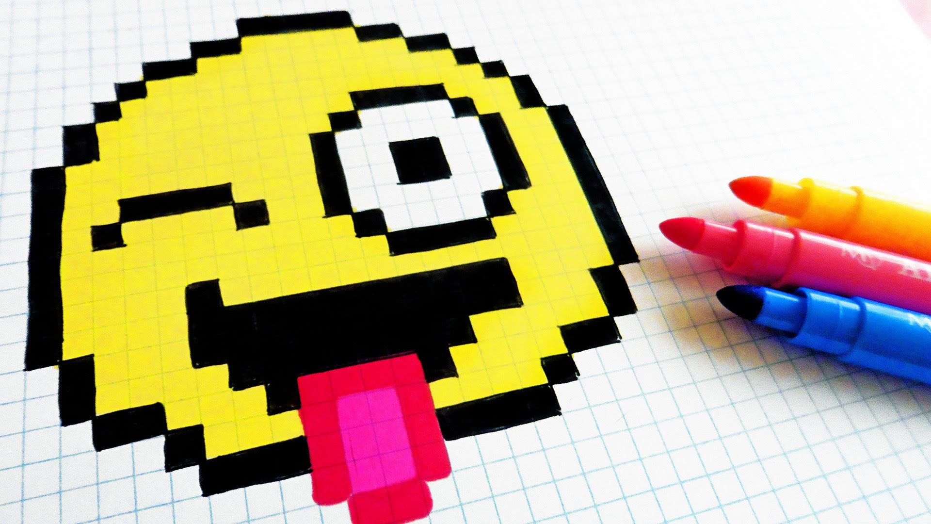 Drawn pixel art poxel Draw Emoji Emoji Handmade How