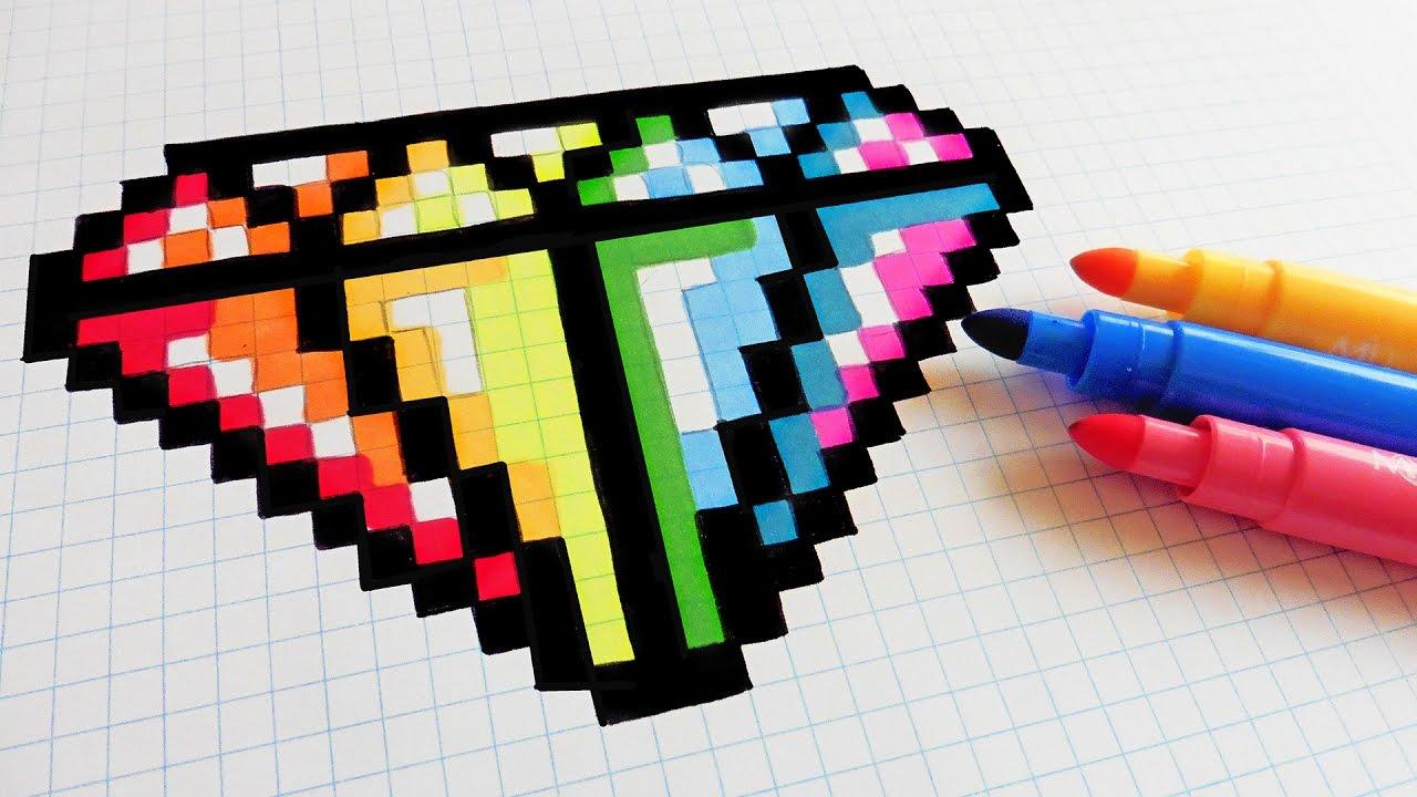 Drawn pixel art poxel To Draw Rainbow Handmade How