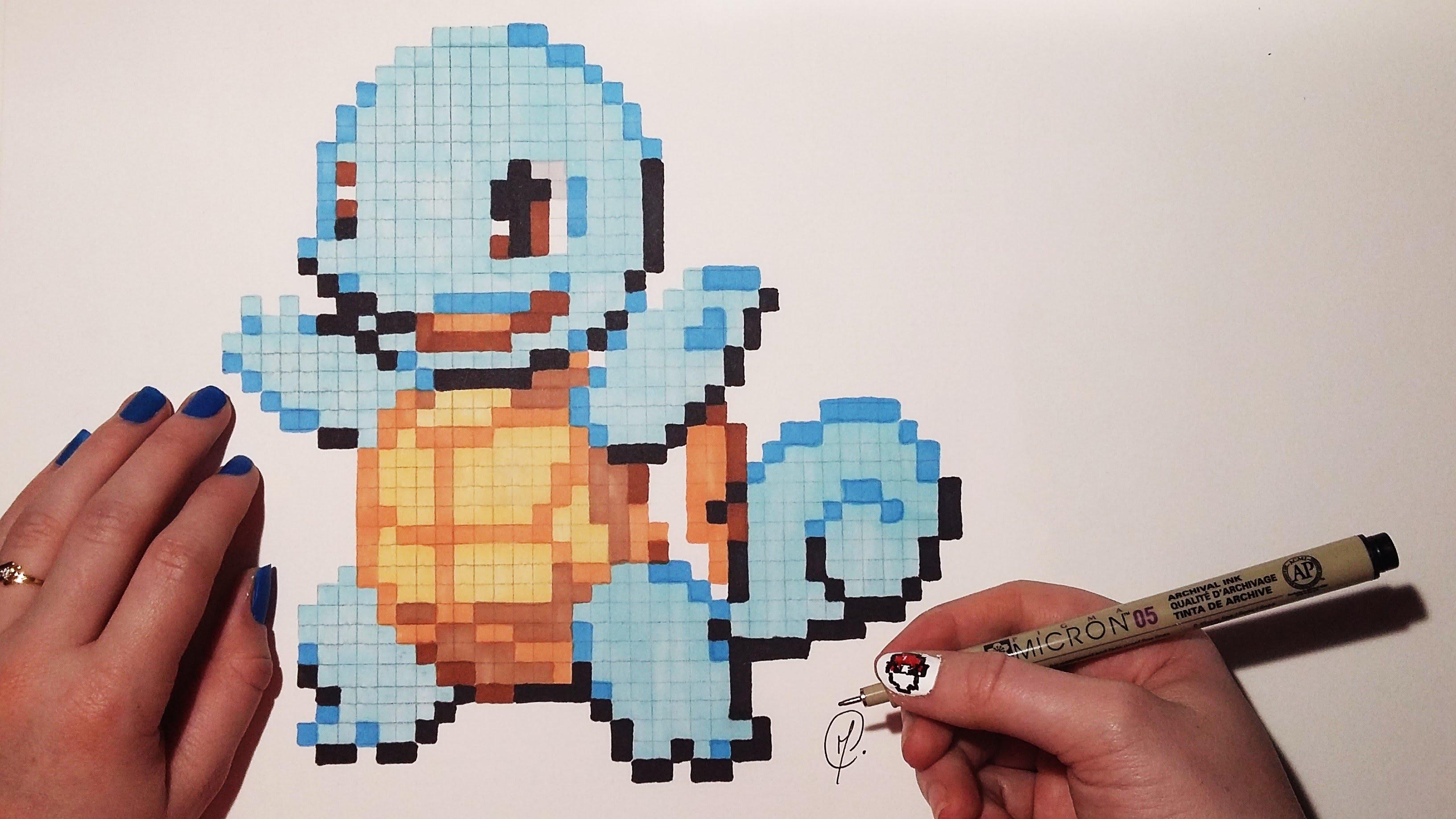 Drawn pixel art poxel Drawing)  Pokemon YouTube Art