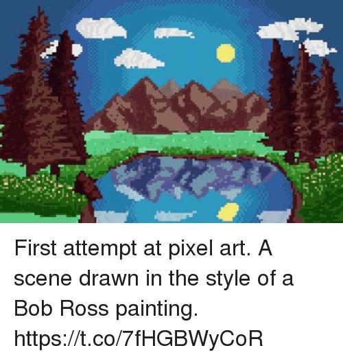 Drawn pixel art real life A scene Art Best ✅