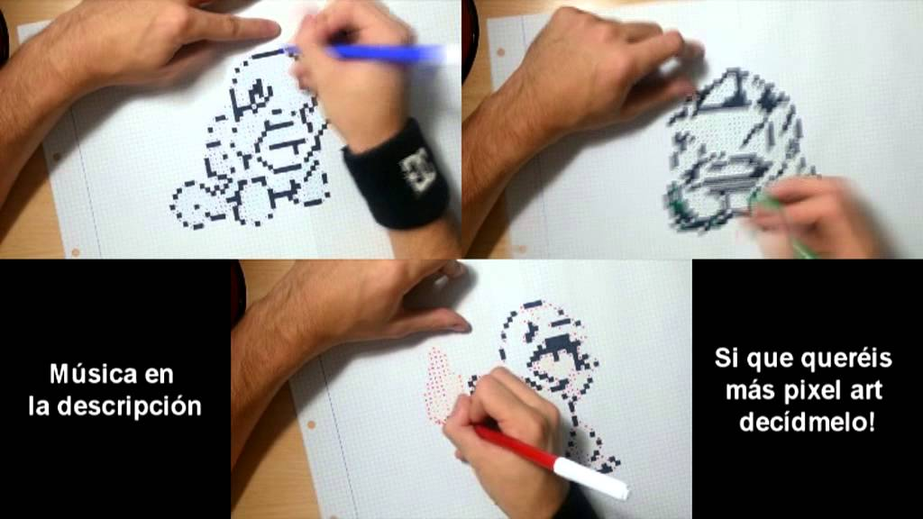Drawn pixel art real life Version YouTube Drawing Drawing Pixel