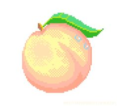 Drawn pixel art real life The cherry pixel here is