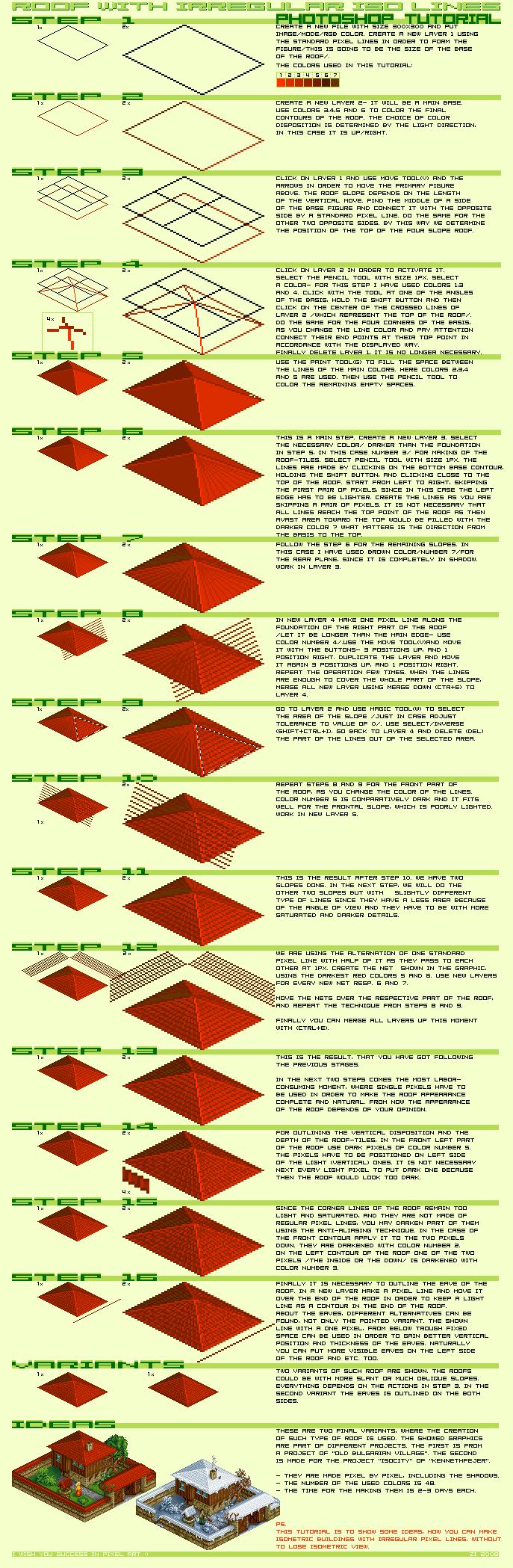 Drawn pixel art realistic Tutorial Tutorial Isometric pixeljoint Pixel