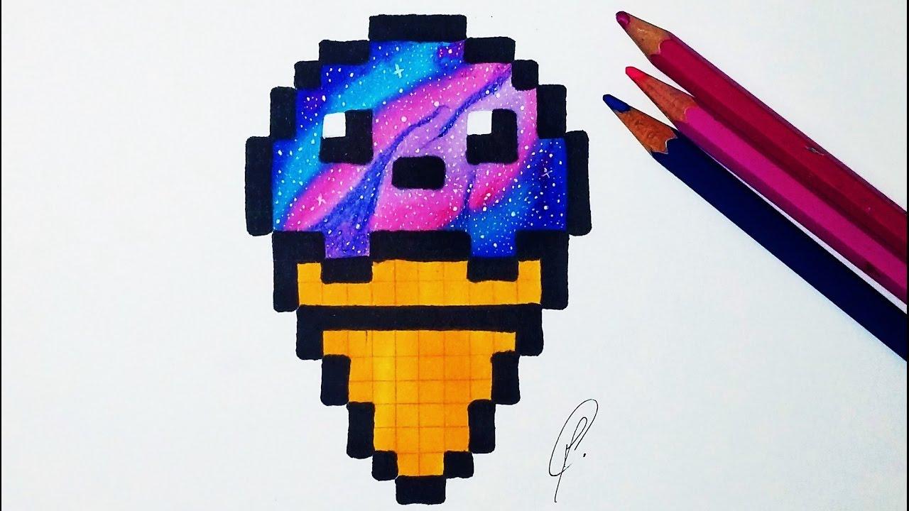 Drawn pixel art realistic Drawing Art Ice Ice Cream