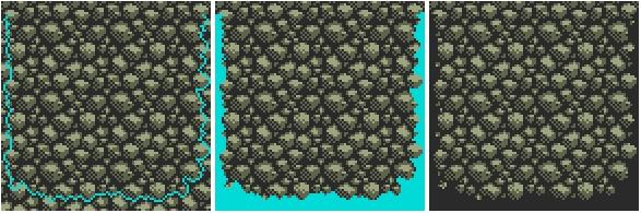 Drawn pixel art retro Tiles set to platform art