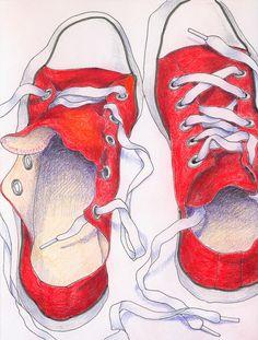 Drawn pixel art shoe Sleeve Blue  Long Owl