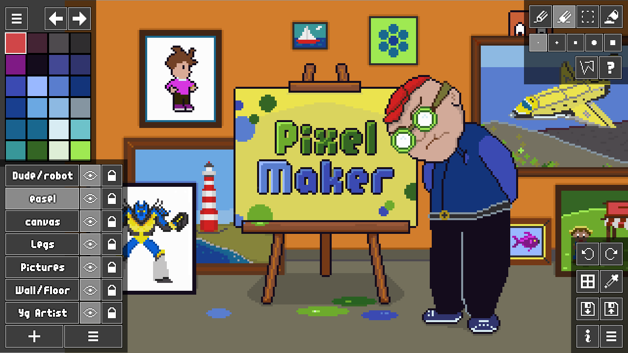 Drawn pixel art sprite When part  now do