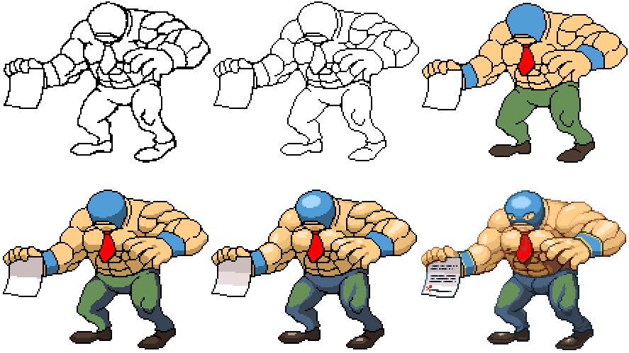 Drawn pixel art sprite Tutorial 1 to How pixel