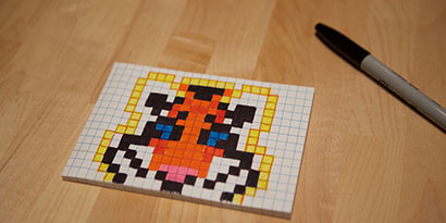 Drawn pixel art sticky note Note for it® Sticky space