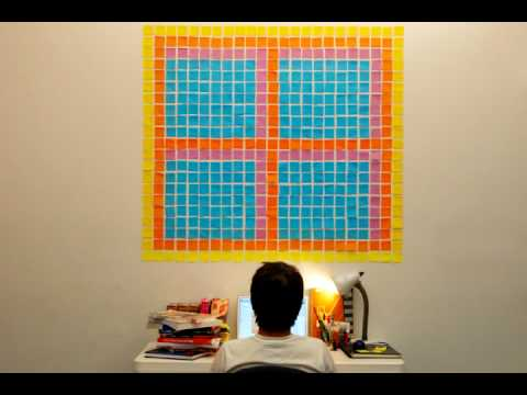 Drawn pixel art sticky note Works for Wall Sticky