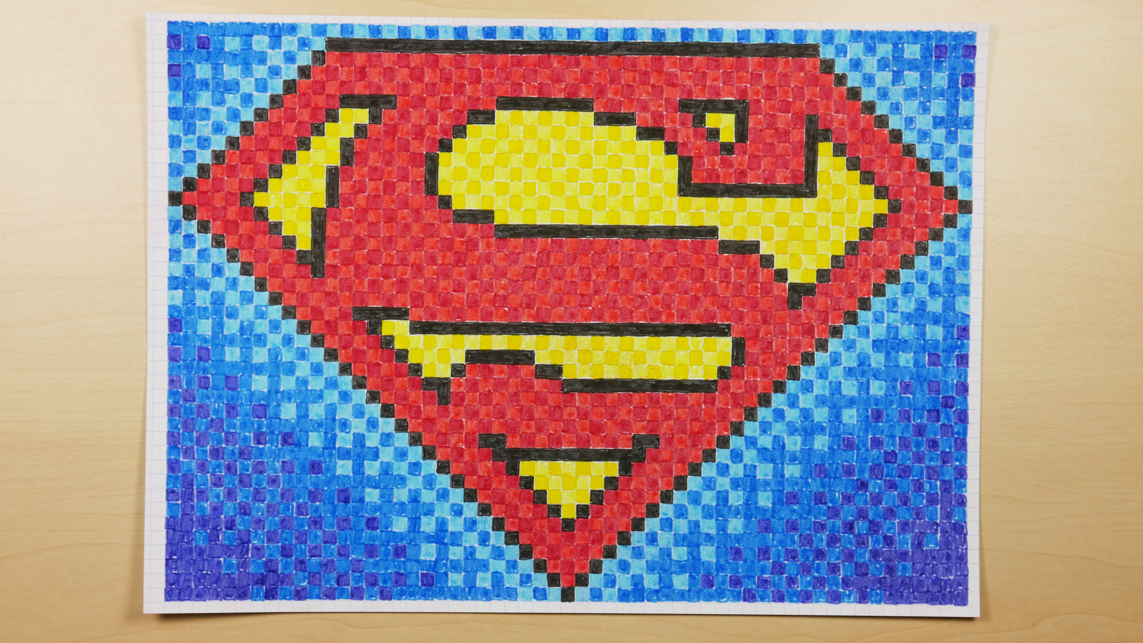 Drawn pixel art super man Draw Doodle How to