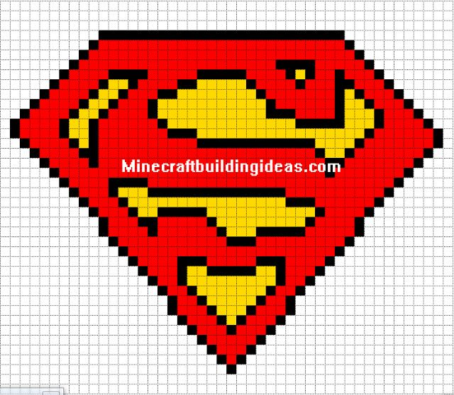 Drawn pixel art super man Templates: logo on Pixel Art