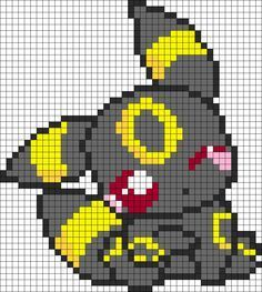 Drawn pixel art template hard pokemon Pixel Umbreon Peeler Google Art