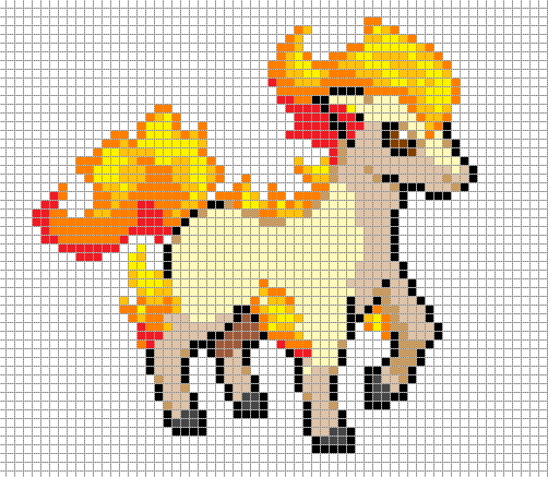 Drawn pixel art template hard pokemon  @deviantART Art by @deviantART