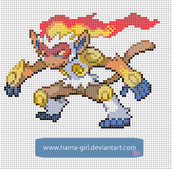 Drawn pixel art template hard pokemon Templates Pixel Craft DeviantArt Pokemon