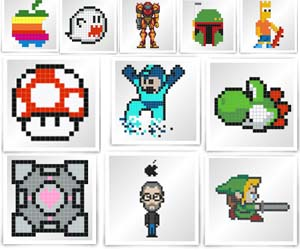 Drawn weapon pixelated DIY Stickers Pixel  Art
