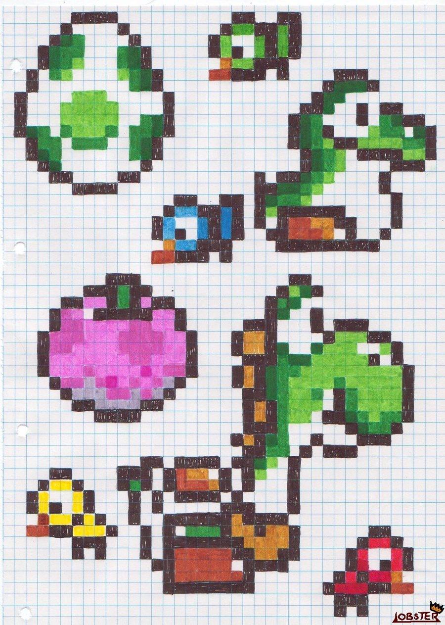 Drawn pixel art tetris Pixel Paint (1) Adorning