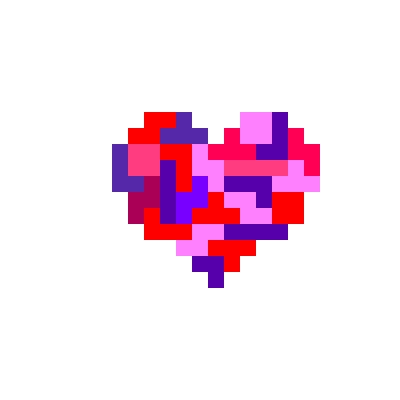 Drawn pixel art tetris By Heart Pixel Heart Tetris