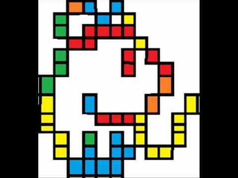 Drawn pixel art tetris In art in pixel art