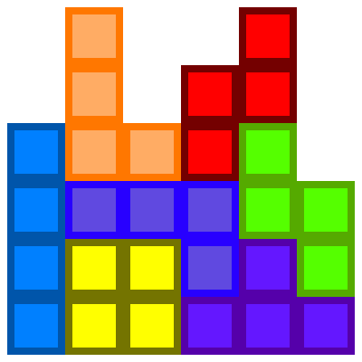 Drawn pixel art tetris Kure kure by Tetris art
