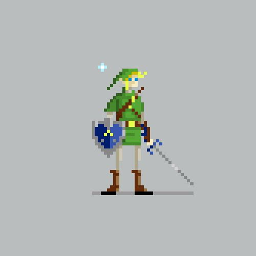 Drawn pixel art video game character Art Game and ideas Pin