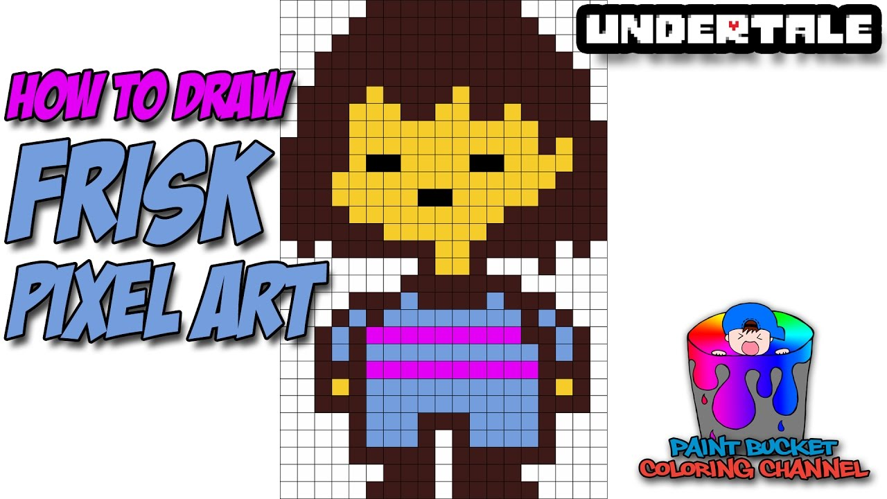 Drawn pixel art video game character Pixel Art Frisk Art Undertale