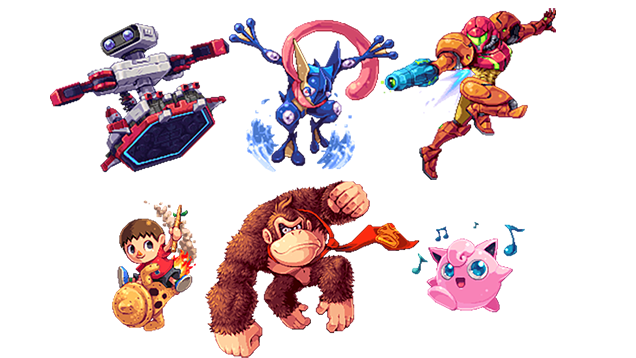 Drawn pixel art video game character Sprites  from game amazing
