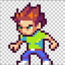 Drawn pixel art video game character #5