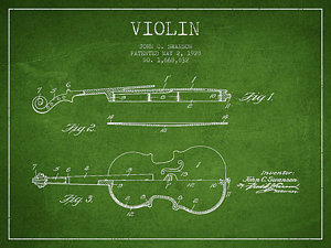 Drawn pixel art violin By Patent Digital Art Art