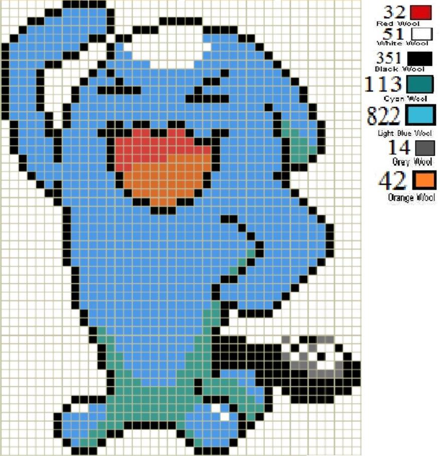 Drawn pixel art wobbuffet More! Pixel Art and Stuff