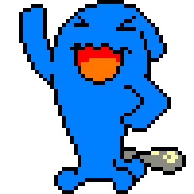 Drawn pixel art wobbuffet By wobbuffet art pixel wobbuffet