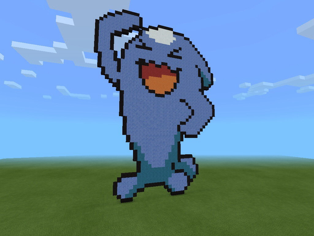 Drawn pixel art wobbuffet Fine site Pokemon A Art