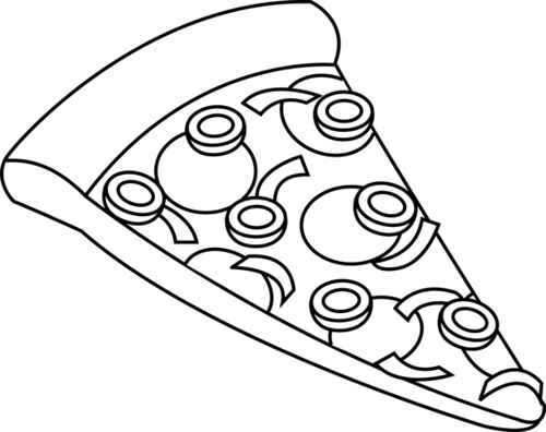 Pizza clipart black and white And Clipart Shhh Lipped White
