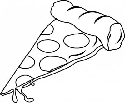 Pizza clipart black and white Slice and Clipart Cheese clipart