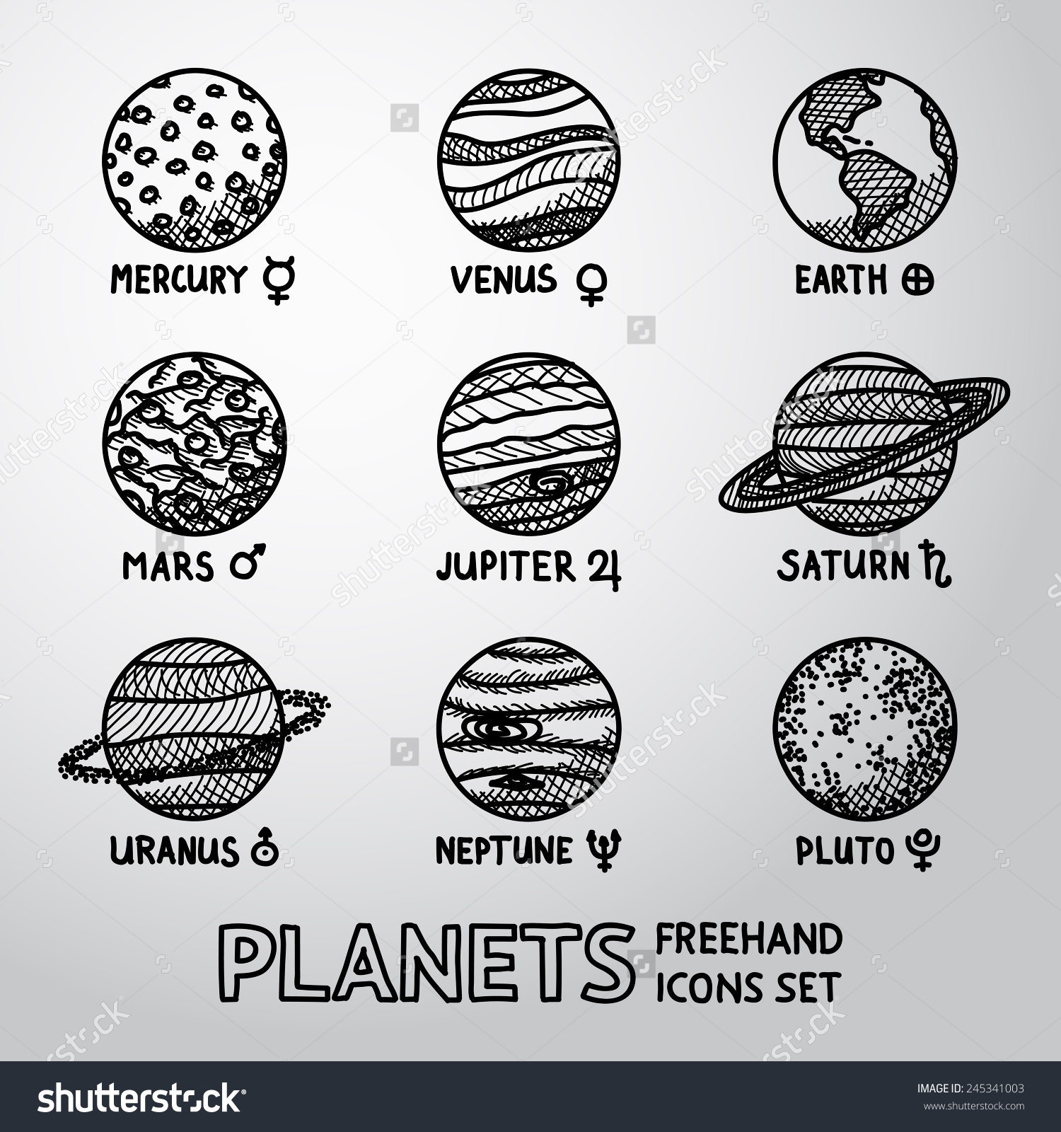 Drawn planets Drawing Gallery drawing Planets for