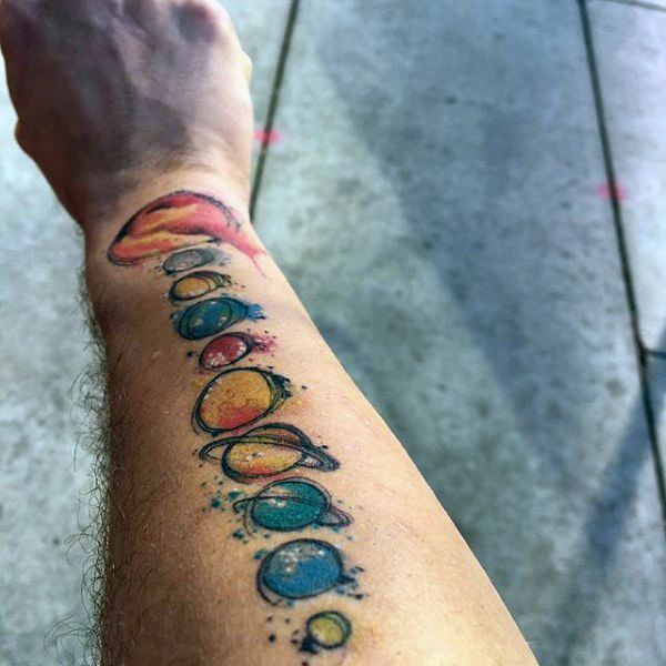 Drawn planet arm Planets The Search tattoos ideas