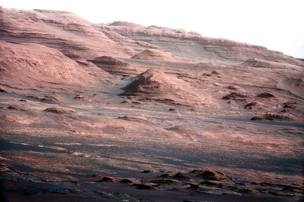Drawn planet barren Poor Mars  of Mars