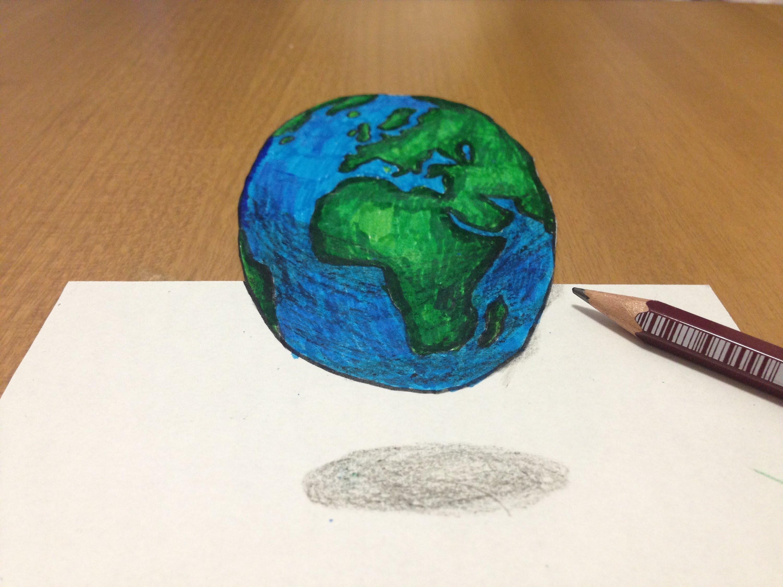 Drawn planet cool earth #5