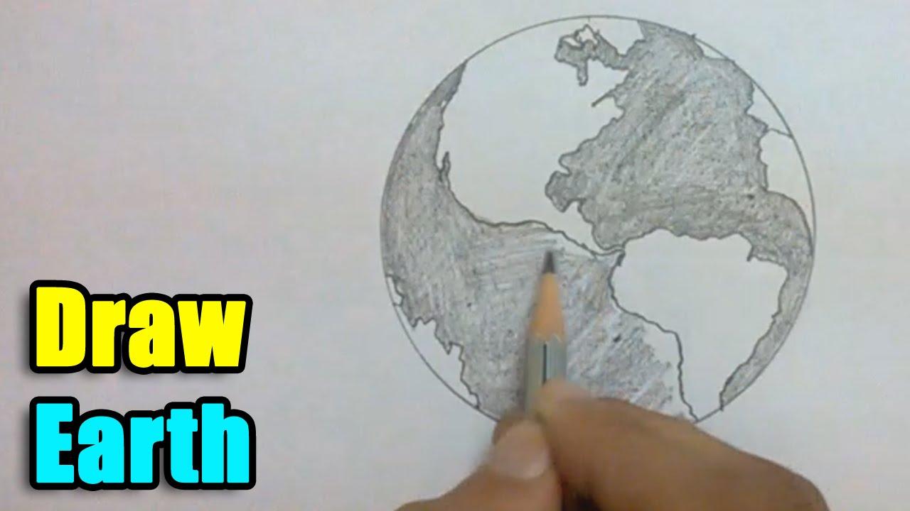 Drawn planet cool earth #4