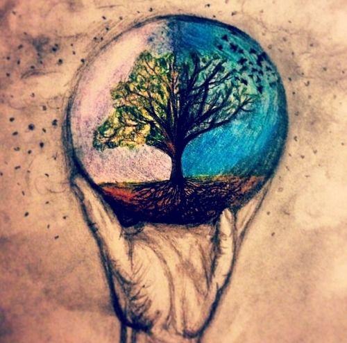 Drawn planet cool earth #10