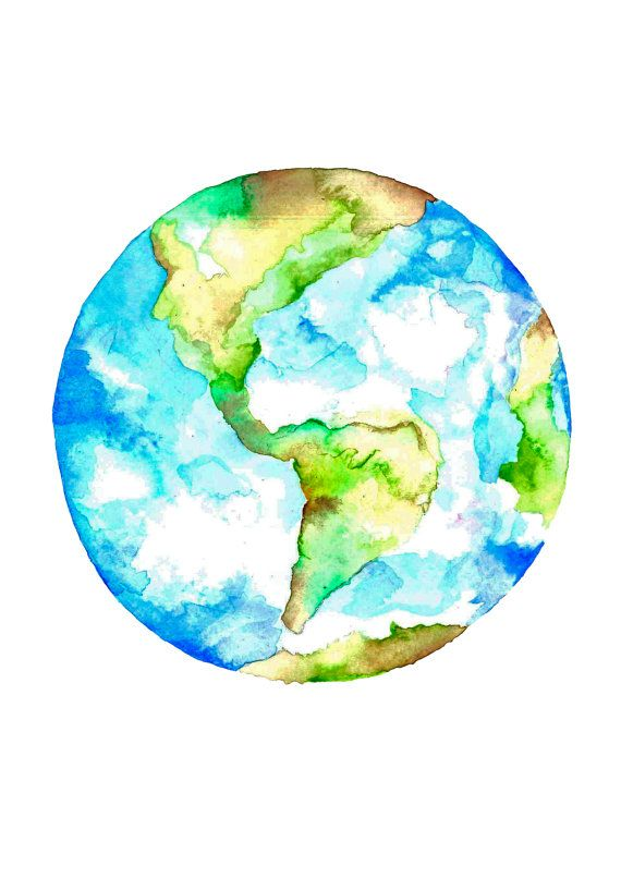 Drawn planet cool earth #11