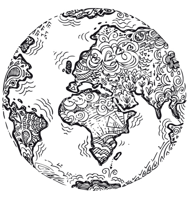 Drawn planet cool earth #2